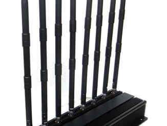PROFISSIONAL 8 ANTENAS REFRIGERADO DE BLOQUEADOR DE CELULAR GSM-GPS-3G-UHF-VHF-LOJACK