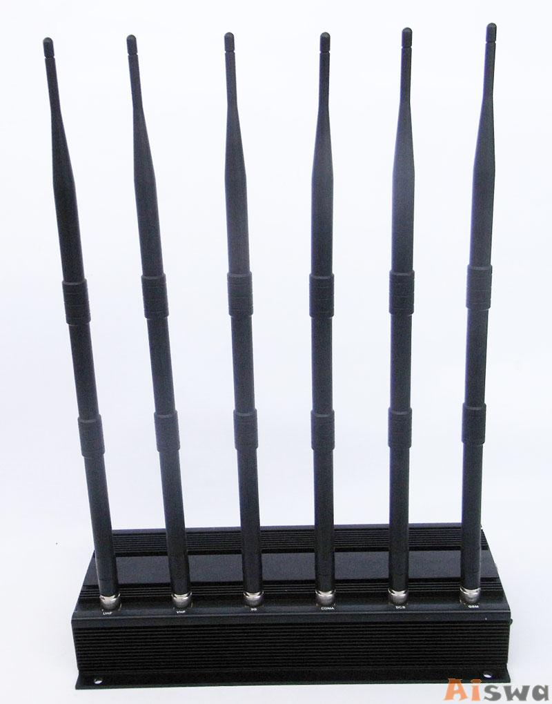 3G4G High Power Cell phone Jammer with 6 Powerful Antenna ( 4G LTE + 4G Wimax)