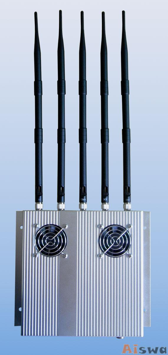 5 Antenna 25W High Power 3G Cell phone & WiFi Jammer with Outer Detachable Power Supply 4