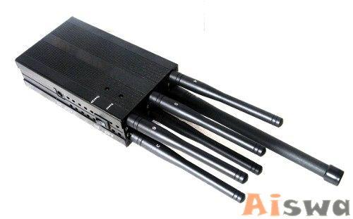 BLOQUEADOR 6 ANTENAS PROFISSIONAL LOJACK+GSM+GPSL1+GPSL2+GPSL5+3G+WIFI+BLUETHOT ALCANCE 25m 2