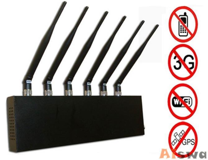 Bloqueador de señales de 6 antenas wifi, gps y celular