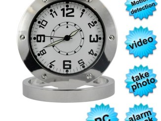 round table clock camera