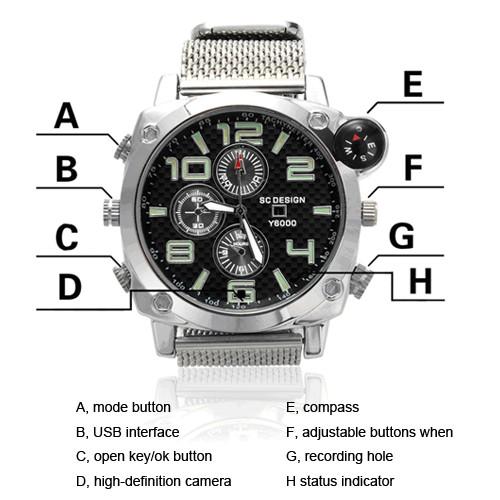 Compass Waterproof Watch DVR 1