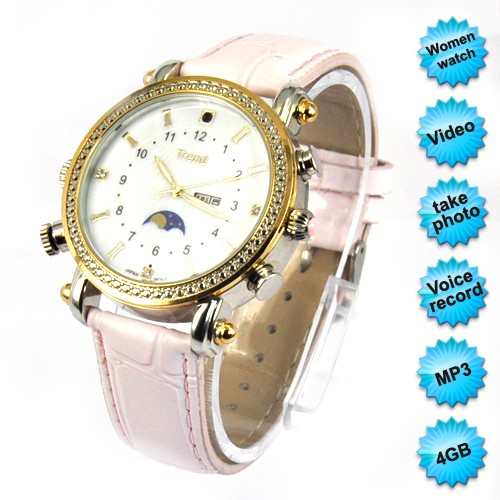 Lady's spy watch camera 4