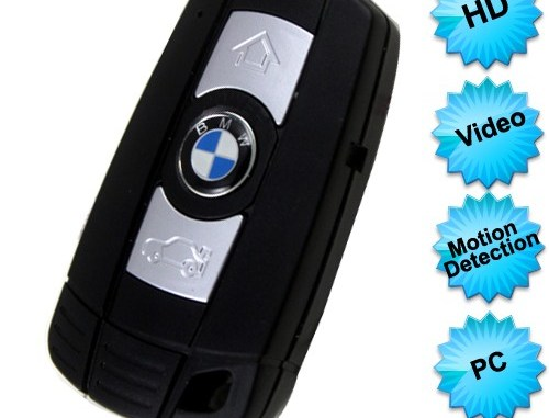 Motion detection keychain camera
