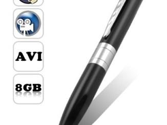 Silver slim pen camera