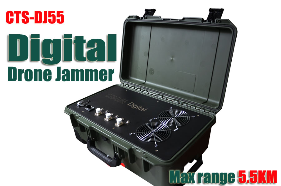 Full bands Digital drone jammer for MAX 5.5KM rang No.CTSDJ55