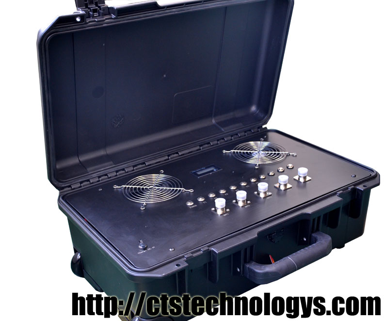 Portable 0.4 to 6Ghz full bands Drone jammer digital source for Long range Upto 4KM