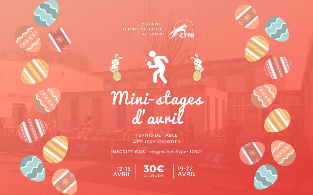 Mini-stages d'avril 2021
