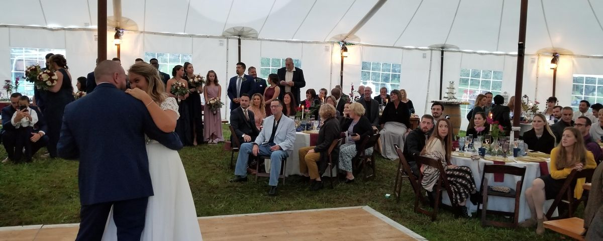 CT Wedding DJ on a private farm