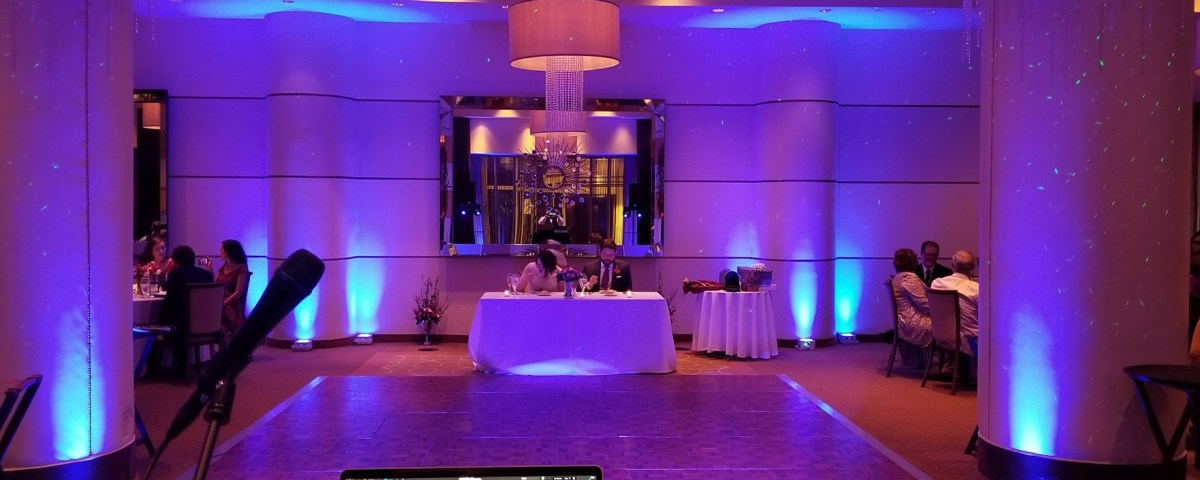 CT Wedding DJ J&S Entertainment Co. Up lighting and Starry Night