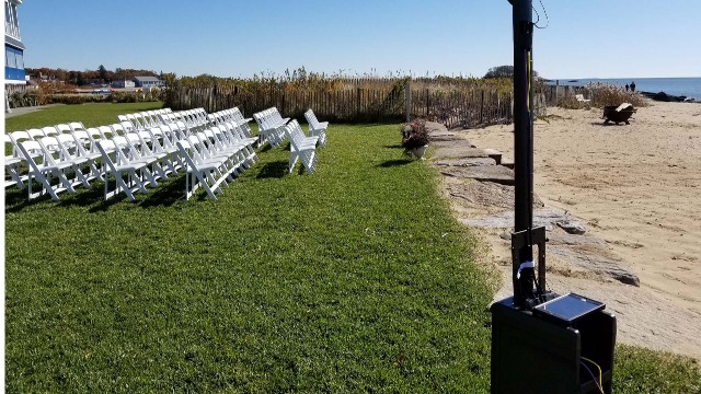 CT Wedding DJ - J&S Entertainment - onsite ceremony sound production