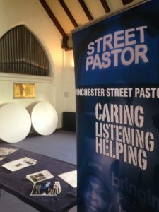 The Street Pastors stand