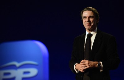 José María Aznar el pasado enero durante la convención anual del Partido Popular en Madrid.