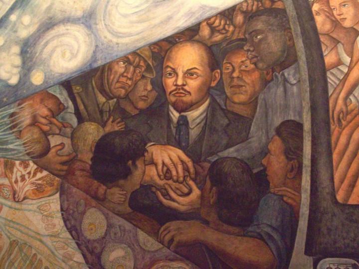 <p>Retrato de Lenin, en el mural<em>El hombre en el cruce de caminos</em>(1934), de Diego Rivera.</p>