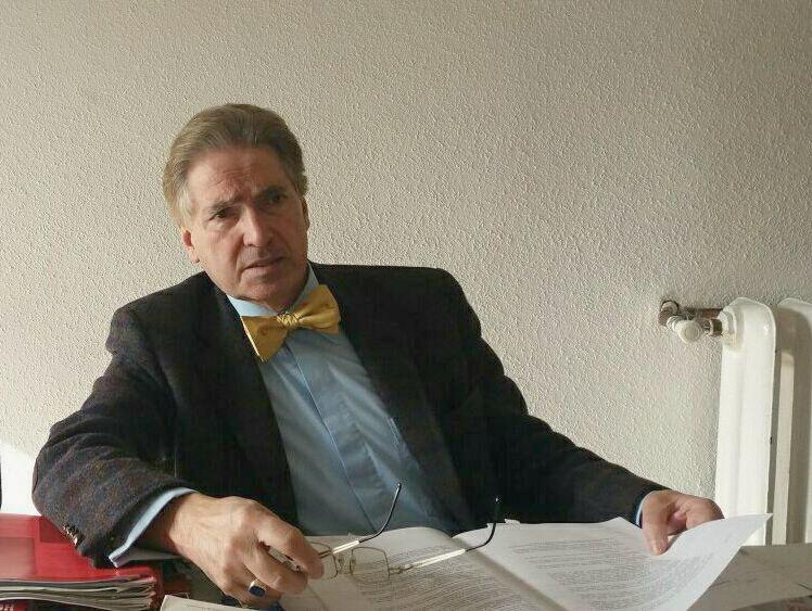 <p>Alfred Maurice de Zayas, durante la entrevista.</p>