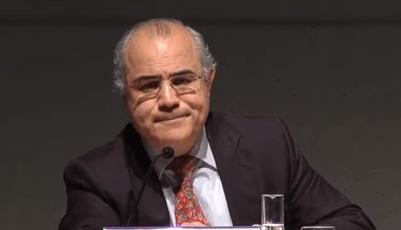 <p>El juez Pablo Llarena durante una charla en un seminario de FAES, 2014.</p>
