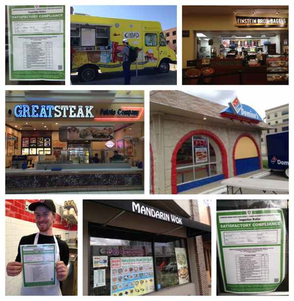 An image collage of restaurants