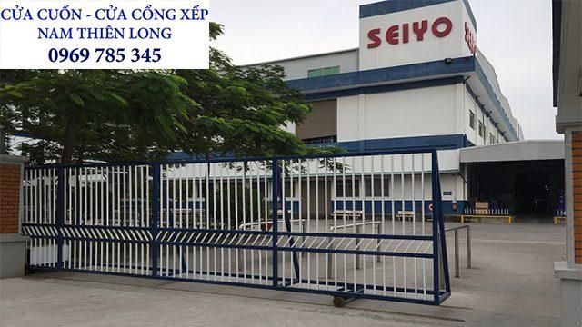 10 - Lắp cửa cổng xếp tại KCN Minh Hưng Bình Phước