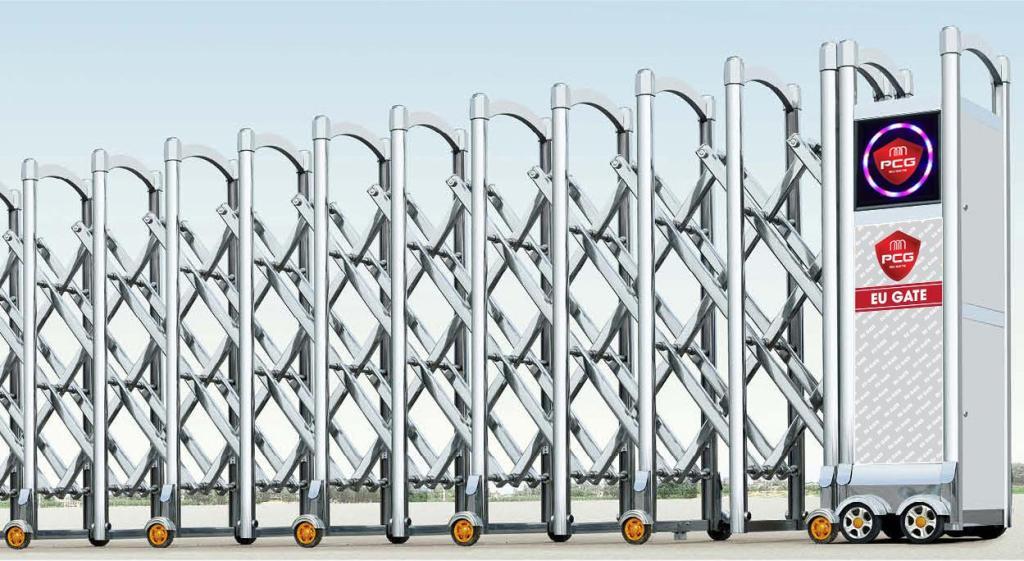 Báo giá Cửa cổng xếp inox tự động