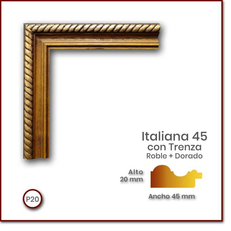 Italiana-45-con-trenza_Roble-Dorado_45x20_p20