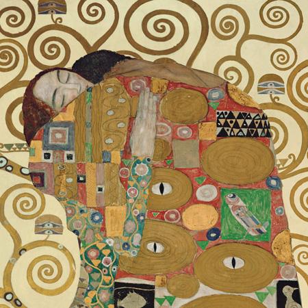 1GK740 - Gustav Klimt - The Embrace (detail)