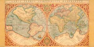 2AA2255 - Anonymous - Orbis Terrae Compendiosa Descriptio, 1587 (H3 - Mapas)