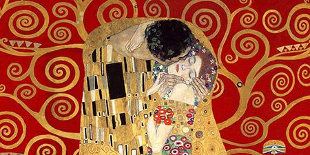2GK4485 - Klimt - The Kiss, detail (Red variation)