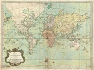 3AA2258 - Jacques Nicolas Bellin - Essay d'une Carte reduite du Globe Terrestre, 1778 {H11 - Mapas}