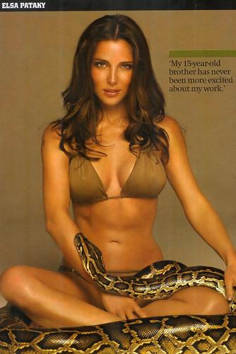Elsa Pataky no tiene miedo a las serpientes