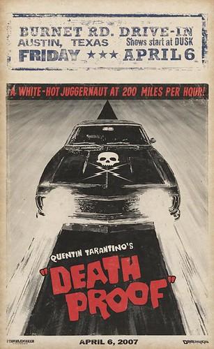 Cartel película death proof lo último de quentin tarantino proyecto grindhouse