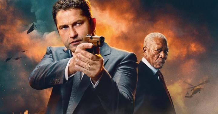 Fallen trilogía con Gerard Butler pegando tiros a diestro y siniestro
