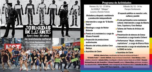 Flyer de las jornadas 2013