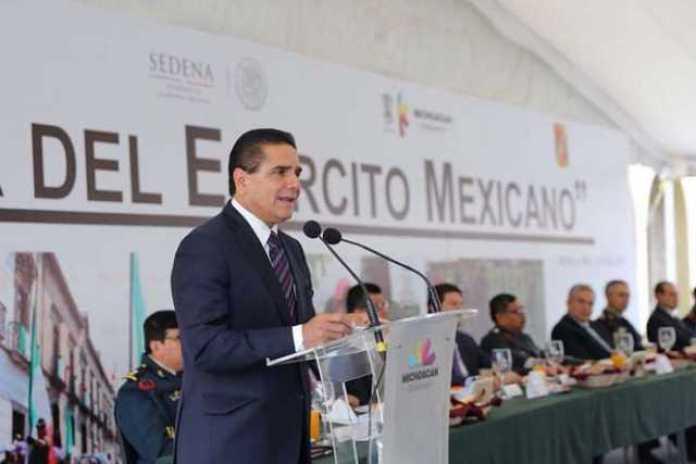 Silvano Aureoles Ejercito Mexicano