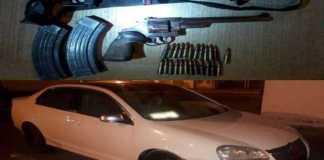 armas coche asegurado