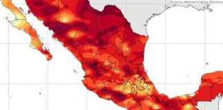 mapa clima altas temperaturas
