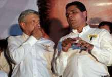 Andres Manuel Lopez Obrador AMLO y Silvano Aureoles