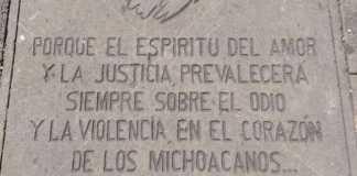 placa granadazos Morelia