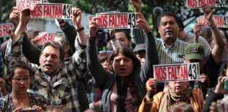 protesta 43 normalistas Ayotzinapa