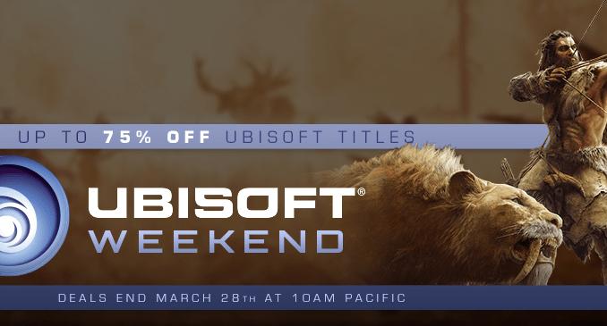 Steam - Ubisoft Weekend Sale