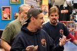 Walter Flanagan, Bryan Johnson, Mike Zapcic - Comic Book Men _ Season 6 – Photo Credit: David M. Russell/AMC