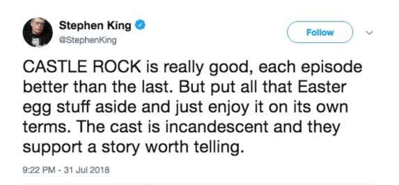 Stephen-King-Castle-Rock-Review-Tweet