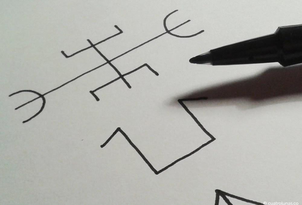 La magia de dibujar runas