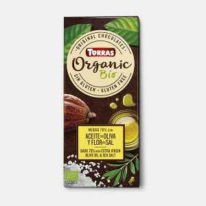 Chocolate negro 70% cacao con aceite de oliva virgen extra y sal