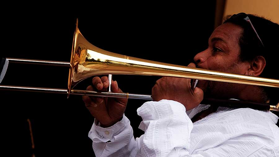 Kubanischer Posaunist Ardiles Ruiz