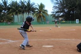 Pre-game batting practice.