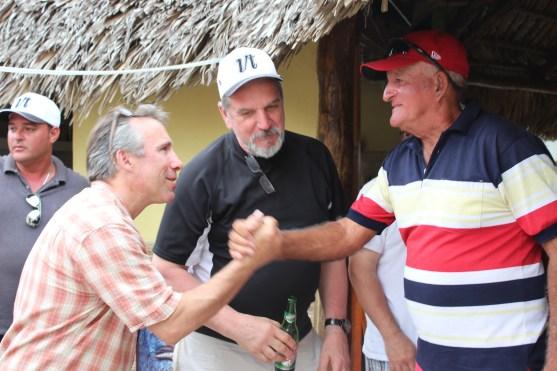 Saying goodbye to a new Cuban friend.
