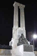A monument for the USS Maine on the Havana waterfront.