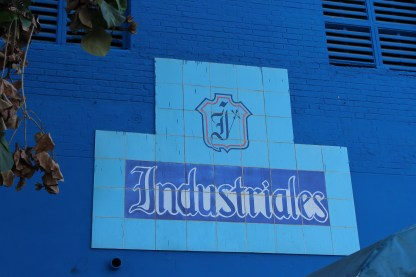 A sign for the Havana Industriales at the Estadio Latinoamericano.