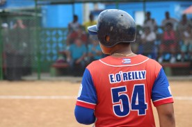 A player with a jersey sporting the last name, O'Reilly, not your typical Cuban name!